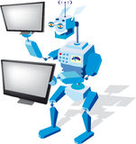 Robot with monitors Stock Images