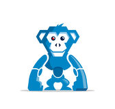 Robot monkey character. Vector illustration of robot chimp Stock Photo