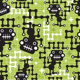 Robot monkey seamless pattern. Royalty Free Stock Photos