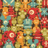 Robot and monsters modern seamless pattern. Stock Photography