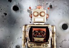 Robot moon Stock Photography