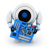 Robot and motherboard Royalty Free Stock Photo