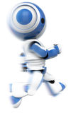 Robot in motion. Profile of robot in motion Royalty Free Stock Photography