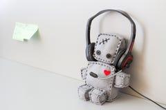 Robot mou Toy Helpdesk Photo libre de droits