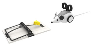 Robot Mouse Trap Royalty Free Stock Images