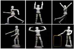 This robot is movment like a human concept. This is  robot movement like a human concept Stock Images