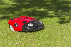 Robot for mowing lawns. Stock Image