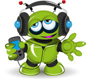 Robot Music Lover Stock Images