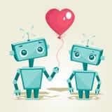 Robot nell'amore Fotografia Stock