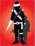 The robot ninja Royalty Free Stock Photos