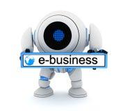 Robot och e-bussiness vektor illustrationer