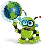 Robot och jordklot Royaltyfri Fotografi