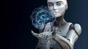 Robot och konstgjord intelligens lager videofilmer