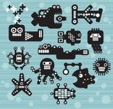 Robot- och monstersamling. Royaltyfri Fotografi