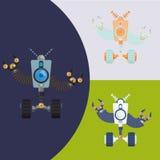 Robot och teknologidesign Royaltyfria Bilder