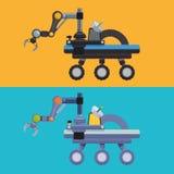 Robot och teknologidesign Fotografering för Bildbyråer