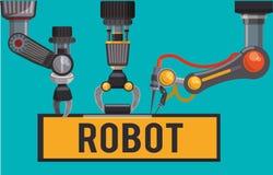 Robot och teknologidesign Arkivfoto