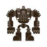 Robot odizolowywający Batalistyczna cyborga wojownika przyszłość Wektorowy Illustratio royalty ilustracja