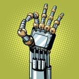 Robot OK okay gesture hand Royalty Free Stock Image