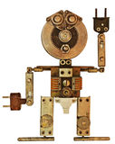 Robot from old metal parts Stock Images