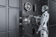 Free Robot Open Bank Vault Stock Photo - 138911700
