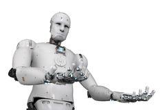 Robot open handen royalty-vrije illustratie