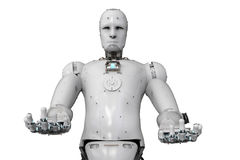 Robot open hands Royalty Free Stock Images