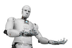 Robot open hands Royalty Free Stock Image