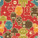 Robot på rött. Arkivbilder