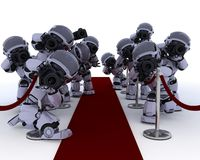Robot Paparazzi at the red carpet Stock Photo