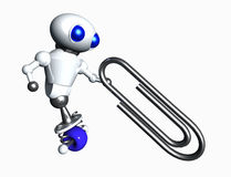 Robot And Paperclip Royalty Free Stock Photos