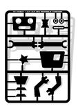 Robot parts cut out and assemble template for children Royalty Free Stock Photos