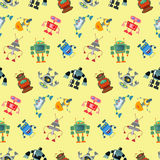 Robot pattern Royalty Free Stock Images