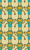 Robot pattern seamless. Cyborg background. Digital technology or. Nament toy. Vector illustration stock illustration