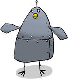 Robot pigeon cartoon character Stock Photography