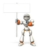 Robot with a placard Royalty Free Stock Photo