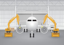 Robot plane Stock Photo