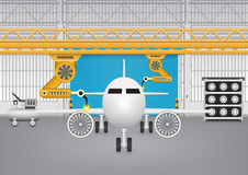 Robot plane Royalty Free Stock Image