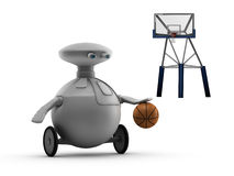 Robot playing basketball Royalty Free Stock Photo