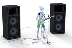 Robot Playing Guitar Stock Photo