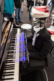 Robot playing piano at Robot and Makers Show Royalty Free Stock Photo