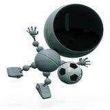 Robot plays football Royalty Free Stock Photos