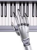 Robot Plays the Piano Artificial Intelligence Concept 3d Illustration royalty free illustration