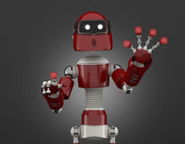 Robot that point on digital interface Royalty Free Stock Photo
