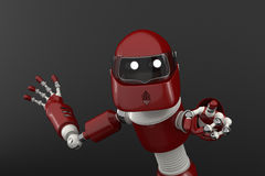 Robot that point out Royalty Free Stock Photography
