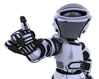 Robot pointing. 3D render of a robot introducing or presenting Royalty Free Stock Photos