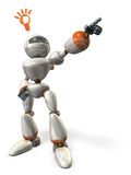 Robot is pointing the goal. Royalty Free Stock Photography