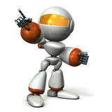 Robot is pointing a target Royalty Free Stock Photography