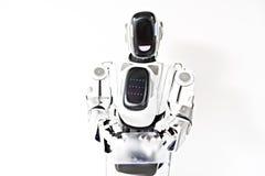 Robot pokazuje jego czujnika ekran Obraz Royalty Free