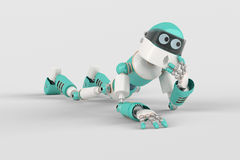 Robot in Pose Royalty Free Stock Photography